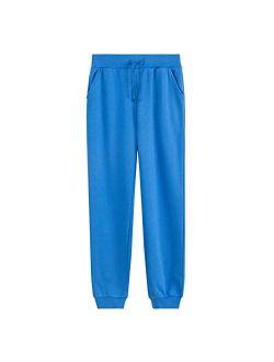 UNACOO Kid's Fleece Sweatpants Girl's and Boy's Active Basic Jogger Pants (Age 3-12 Years)