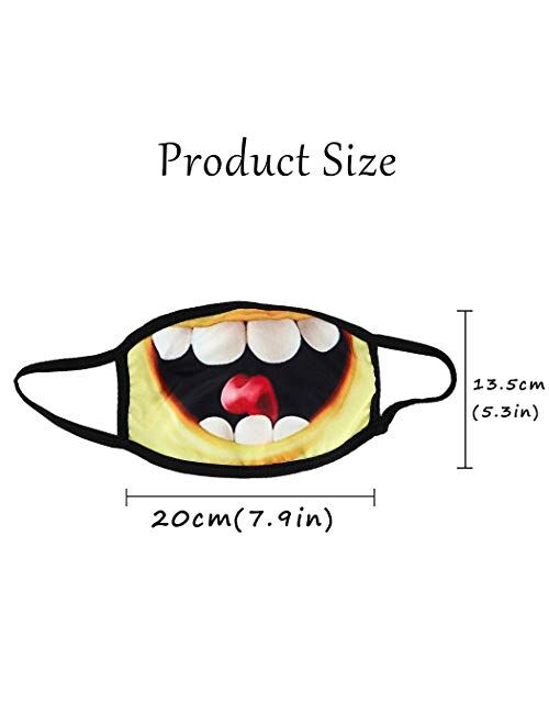 Ludress Cotton Face Mask Washable Grimace Facial Cover Reusable Face Protection Ball Party Masquerade Genie Costume Accessory