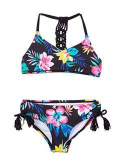 Girls' Willow V-neck Bikini Beach Sport 2-piece Swimsuits