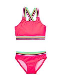 Girls' Tanya Upf 50+ Beach Sport Athletic Bikini Swimsuit