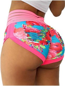 High Waist Lounge Yoga Shorts For Women Butt Lifting Workout Sports Gym Shorts Dance Costume Outfits Booty Clubwear