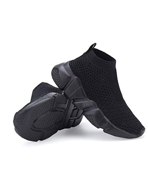 CHUI Boys Girls Breathable Balenciaga Look Sneakers Mesh Lightweight Easy Walk Casual Slip-On Athletic Running Walking Shoes (Little Kid/Big Kid)