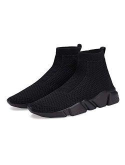 Hetios Girls Sneakers Running Shoes High-Heeled Balenciaga Look Socks Shoes Boys Athletic SNE.