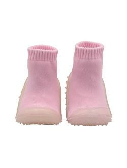 Skidders Baby Toddler Girls Grip with Rubber Soles Non-Slip Flexible Shoes