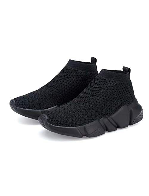 YAVY Kids Sock Sneakers for Boys and Girls Tennis Sock Shoes Lightweight Balenciaga Look Running Shoes Breathable Casual Sports Shoes