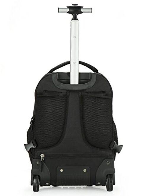 Tilami Kids Rolling Backpack 18 inch Boys and Girls Laptop Backpack