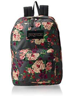 Superbreak Backpack - Lightweight School Pack, Grey Bouquet