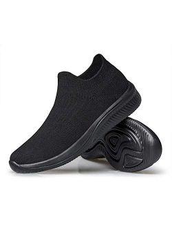vibdiv Womens Walking Shoes Sock Sneakers Balenciaga Look Slip-on Lightweight Comfortable Breathable