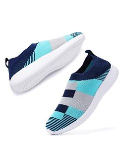 AEMAPE Women's Walking Shoes Lightweight Tennis Shoes Breathable mesh Casual Running Shoes Fashion Sneakers Slip on Balenciaga Look Shoes