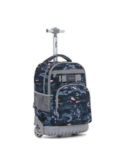 Rolling Backpack 19 inch Wheeled LAPTOP Boys Girls Travel School Student Trip