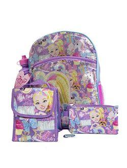 JoJo Siwa Backpack 5 Pc. Set for Girls, 16 in. Sequin Backpack w/JoJo Lunch Bag & Pencil Case
