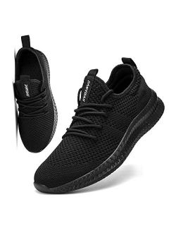 FUJEAK Men Running Shoes Men Casual Breathable Walking Shoes Sport Athletic Sneakers Balenciaga Look Comfortable Lightweight Shoes