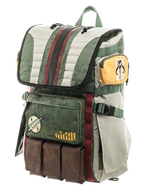 Bioworld Star Wars Boba Fett Mandalorian Suit Up Laptop Backpack