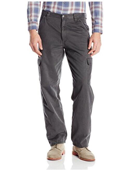 Wrangler Authentics Men's Authentics Fleece-Lined Cargo Pant, Anthracite Twill, 30x32