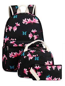 Bookbag School Backpack Girls Cute Schoolbag for 15 inch Laptop backpack set