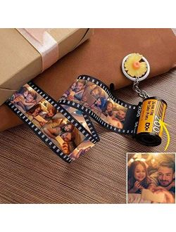 Keychains Personalized Photo with Picture Colorful Custom Camera Film Roll Keychain MultiPhoto Key Rings Photo Reel Album Vintage Retro Unique Custom Gift