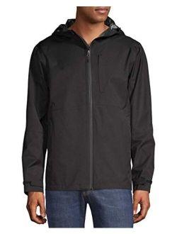 Men's Long-sleeve Rain Shell Hooded Jacket (rich Black)