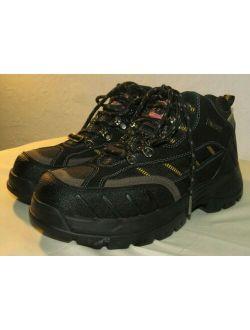 Steel Toe Boots Mens Black Leather Kane Waterproof Hiking Work Size 7.5
