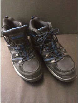 Kane Mens Size 10.5 Leather Waterproof Work Black Blue Boot Steel Toe