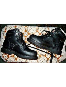 Gus Steel Toe Slip/oil Resistant Black Safety Work Boot. Vguc Sz 7 1/2 W