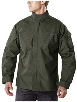 Men's Combat Military Jacket, Water Repellent Ripstop Army Fatigue Field Jacket, Outdoor Edc Tactical Acu/bdu Coat