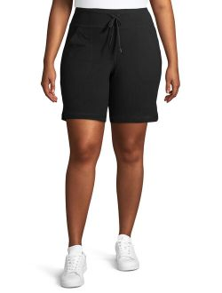 """Women's Plus Size 9"""" Bermuda Short With Side Vents"""