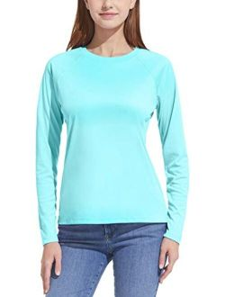 Women's Upf 50+ Long Sleeve Uv/sun Protection T-shirt, Outdoor Cool Dry Athletic Performance Hiking Shirts