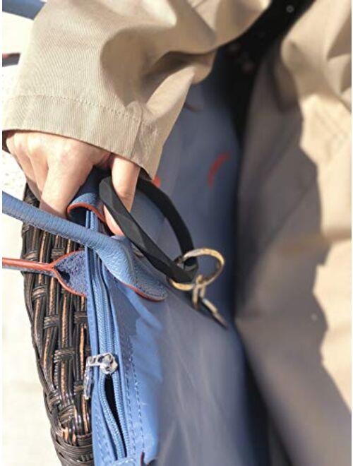 Mymazn Silicone Bangle Keychain Bracelet Key Ring holder for Women Girls Gift Wristlet Round Keyring