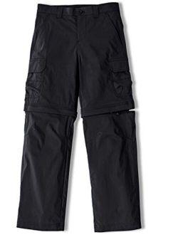 Kids Youth Hiking Cargo Pants, Upf 50+ Quick Dry Convertible Zip Off/regular Pants, Outdoor Camping Pants