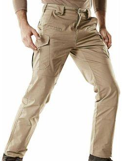 Men's Flex Stretch Tactical Pants, Water Repellent Ripstop Cargo Pants, Ligh