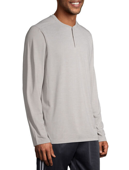 George Men's and Big Men's Long Sleeve Performance Henley, up to Size 5XL