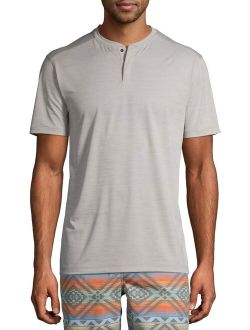 Men's And Big Men's Short Sleeve Performance Henley, Available Up To Size 3xl