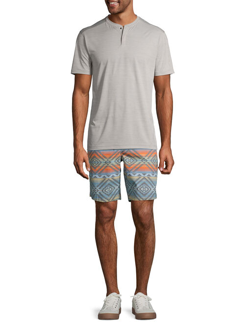 George Men's and Big Men's Short Sleeve Performance Henley, Available Up to Size 3XL