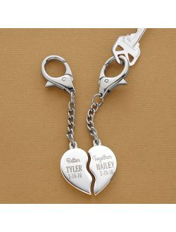 Personalized Name Better Together Heart Key Chain