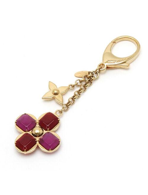 Louis Vuitton Bijousak Beef Rules Keychain Keyring Bag Charms Gp Gold Red _11809