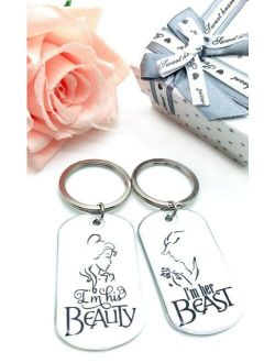 Couple Keychain for Boyfriend Girlfriend with Gift Box for Valentine's Day