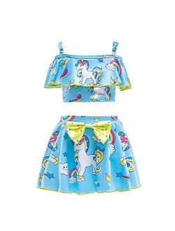 Dressy Daisy Girls Unicorn Bathing Suit Swimwear Tankini Swimsuit Swimwear