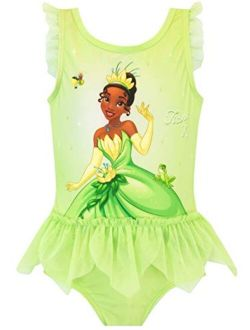 Girls' Princess And The Frog Tiana Swimsuit