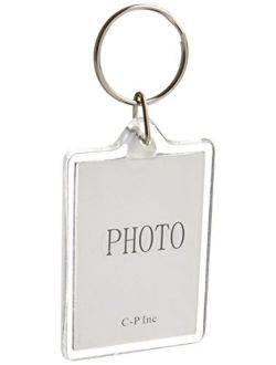 10pcs Clear Acrylic Blank Photo Picture Frame Keychain Personalized Photo Keyring Insert, Suit the size of 2.74.6cm (Rectangle)