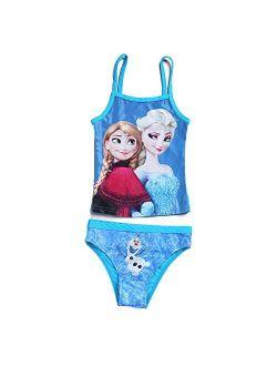 PCLOUD Girls' Princess Two Piece Bikini Swimsuit Blue 3-10 Years Old