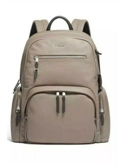 Carson Voyageur Backpack Leather - Beige - Nwt