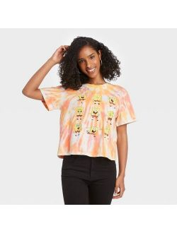 Women's Spongebob Short Sleeve Cropped Graphic T-Shirt