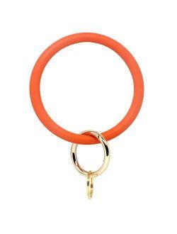imeetu Wristlet Keychain, Circle Silicone Bangle Keyring Bracelet