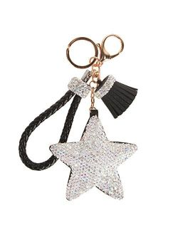 Fawziya Crystals Tassel Star Women's Keyrings & Keychains