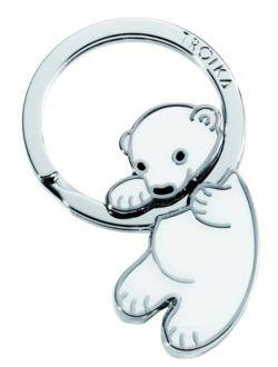 Troika Polar Baby Teddy Bear Keychain (KR803WH)