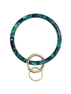 Heesch Key Ring Bracelet Keychain Bracelet Bangle Key Ring Circle Round Key Chain Bangle for Wrist