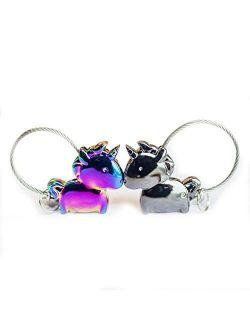 Wandi Couple Keychain, Magnetic Destined Kissing Unicorn Keychain Valentine's Love/Christmas Present