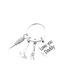 Myhouse Letter 'Love You Daddy' Keychain Alloy Creative Gadget Pendant Keychain Hanging Ornament Keyring Key Chain Gift