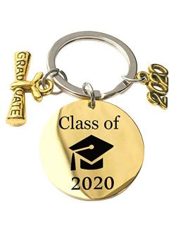 GloryMM 2020 My Story is just Beginning Key Chain Jewelry Charm Keychain Class of Graduation Gift for Her and Him