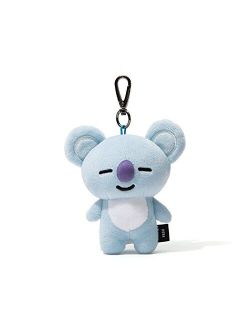 Koya Character Soft Plush Stuffed Animal Keychain Key Ring Bag Charm, 12 Cm, Blue